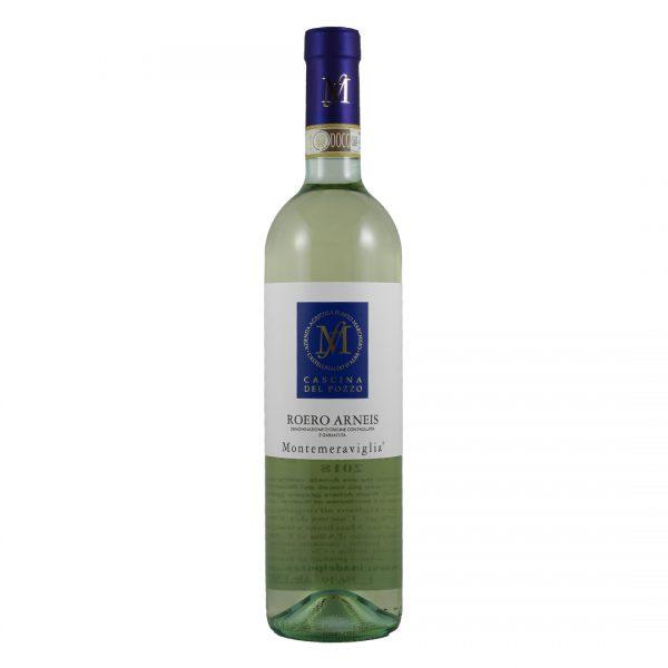 fles Italiaanse witte wijn Arneis druif Cascina del Pozzo Wijnzat
