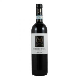 Fles Italiaanse rode wijn Barbera druif Cascina del Pozzo Wijnzat