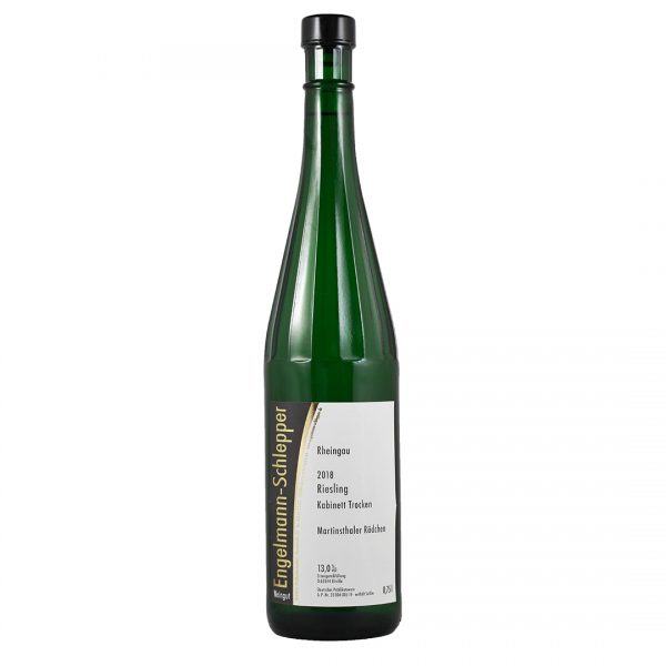 Fles witte wijn riesling kabinett Engelmann-Schlepper Wijnzat