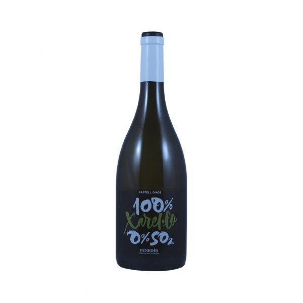 Fles biodynamische witte wijn Castell d'Age 75cl Wijnzat