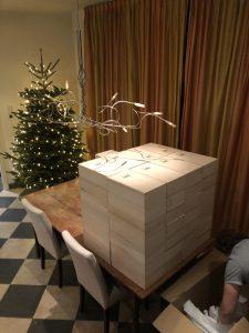 Wijngeschenken in luxe houten kistje 2 flessen Wijnzat